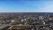 Алтай.  Поселок Тальменка с высоты птичьего полета.