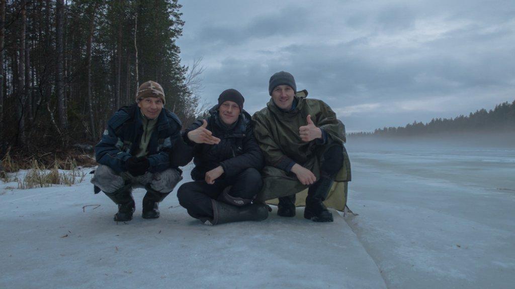 Сиг. Тает лёд. Кольский 2017. Видео.