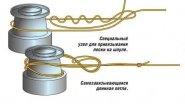 Как правильно привязать леску или шнур к катушке