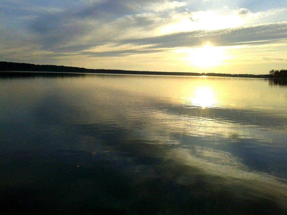 Бердский залив на закате