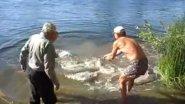 Деревенский рыбак поймал 75-килограммового сома
