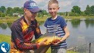 Ловля карпа на метод #фидер. Ловим карпа на метод в пруду Рыбалка с сыном | Рыбалка с Родионом