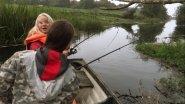 Первый раз на рыбалке и ТАК повезло