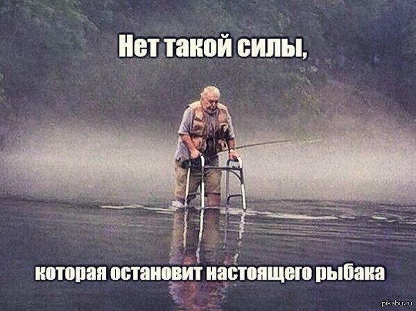Настоящий рыбак....