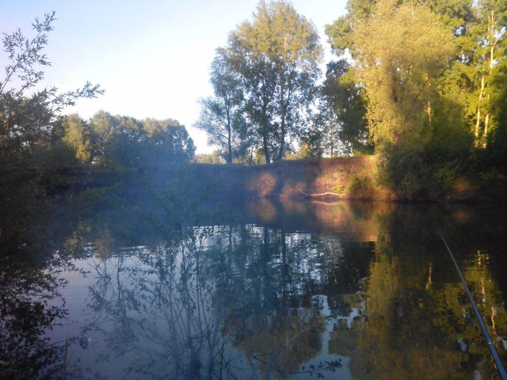 река Тула (Новосибирск, недалеко от устья)