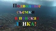 Подводная сьемка в поиске ленка!