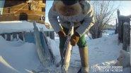 Fishing способ чистки щуки и налима на морозе - 40 градусов Yakutia
