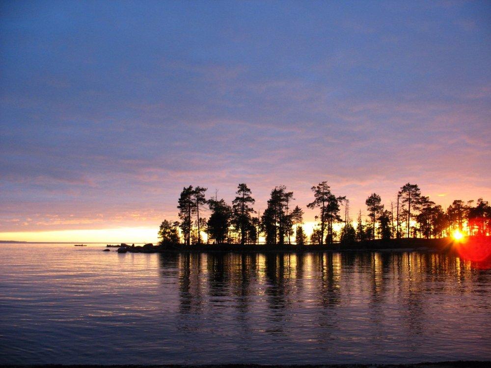 Топозеро, закат