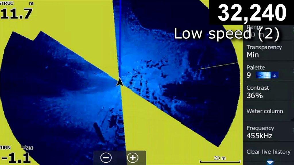 Круговое сканирование для эхолотов Lowrance
