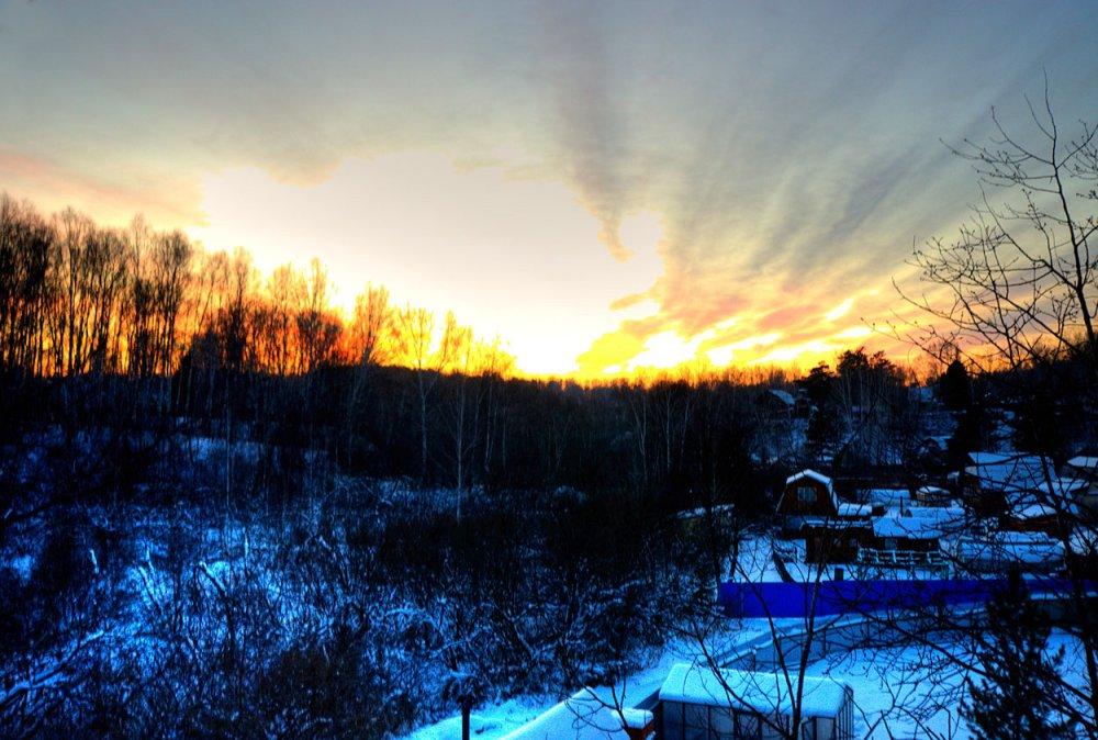 Зимний вечер. 38 км от Новосибирска