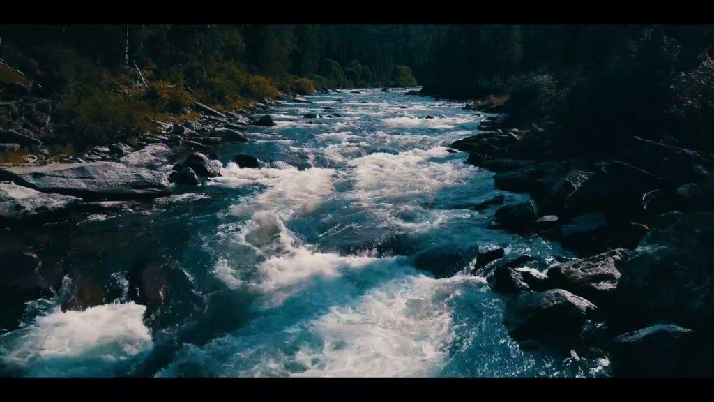 Порог реки Бельсу   Кемеровская область 4K   квадрокоптер DJI Mavic Pro