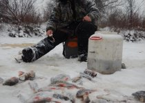 хапочек во время снегопада