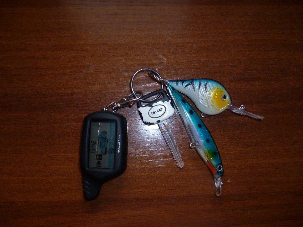 Брелок на ключах от машины:)