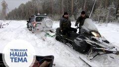 Жесть Снегоходом дёргаем внедорожник
