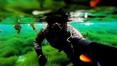 Под водой. GoPro HERO  another world. Не, подводная охота.