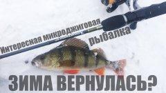 Интересная микроджиговая рыбалка. Зима вернулась?