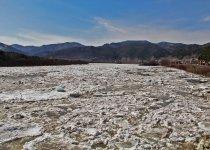 Ледоход на реке Абакан