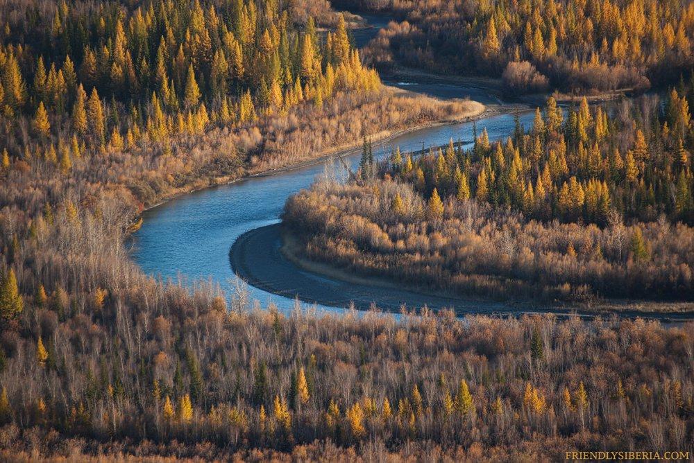Изгиб реки Чуя, Горный Алтай, осень 2017года.