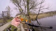 Рыбалка на окуня весной 2018.Спокойная ловля окуней на микроджиг и поплавок.