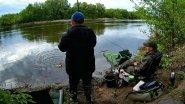 Ловля крупного КАРАСЯ на фидер на реке. (LiveFishing)