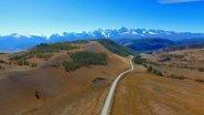 Красивый вид Курайской степи на Алтае