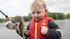 Детские эмоции от рыбалки. 7 МИЛЛИОНОВ ПРОСМОТРОВ!