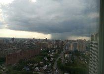 Дождевой гриб над Новосибирском.