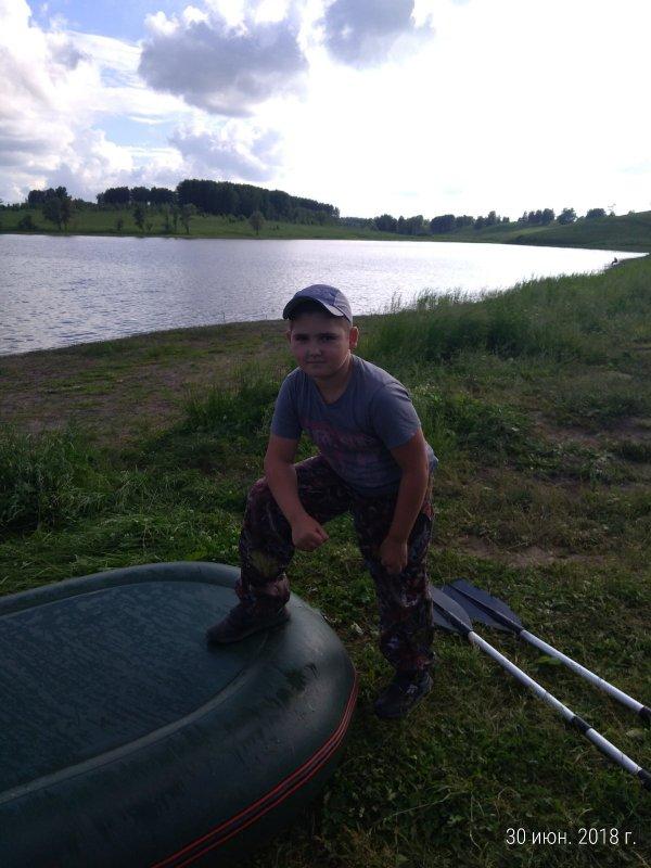 Юный рыбак.