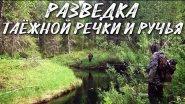 Разведка таежной речки и ручья / рыбалка 2018