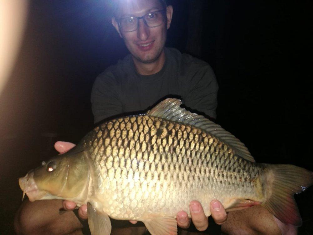 Ночная рыбалка с моим сыном.