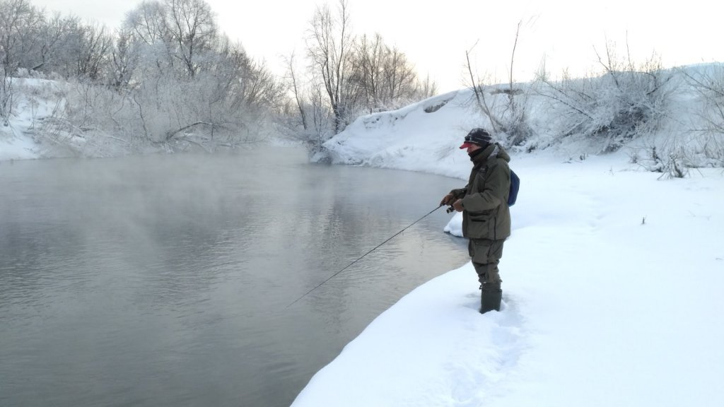 Черно-белая рыбалка. Зима 17-18