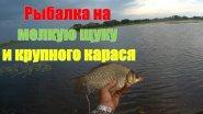 Рыбалка на мелкую щуку и крупного карася