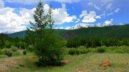 Горный Алтай. Берег реки Чуя с видом на вершину Актуру (Актру)