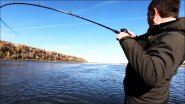 Напоролся на щучий хапок. Странные поклевки щуки. Рыбалка осенью.