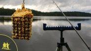 Рыбалка на фидер осенью.  2 серия.  Ловим на прикормленной точке