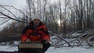 Эта протока забита крупной рыбой. Первый лед. Ловчий балансир.
