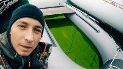 Преимущество самоотливного съемного транца. Тоннельная лодка ПВХ СТРИЖ JET.