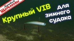 Крупные РАТТЛИНЫ (VIB). Важен ли РАЗМЕР ВИБА для зимнего СУДАКА? Подводные съемки на 5.5 метрах!