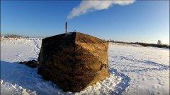 Испытание палатки с печкой в  -30 С на рыбалке