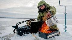 Ладога, зимняя рыбалка с грилем. Зимняя рыбалка на окуня