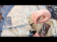 ПРЕДУПРЕЖДЕНИЕ. В мороз лопнули окна на палатке Куб 2.20