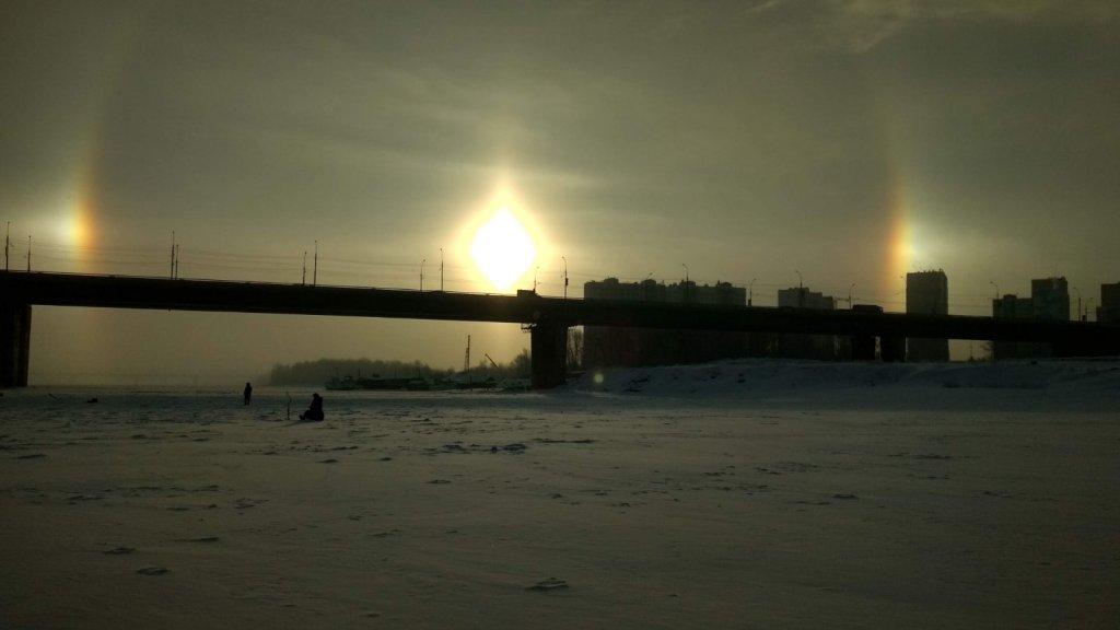Зимняя радуга,Димитровский мост.