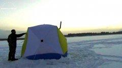 4 загара за 10 минут! / ночевка в палатке с печкой / одни на льду / часть 2 наедине с тайгой