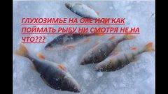 Глухозимье на оке. Лучшая безмотылка))))