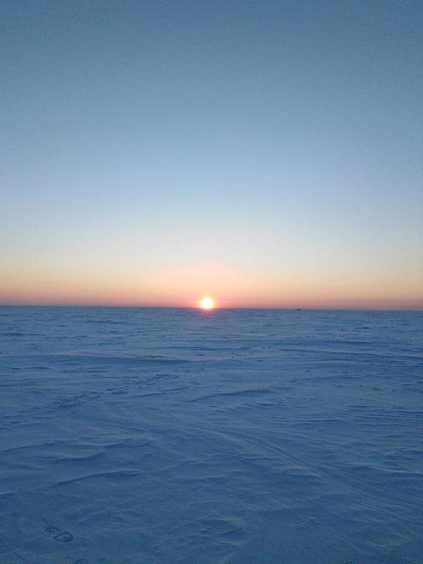 Морозное утро на Овх.
