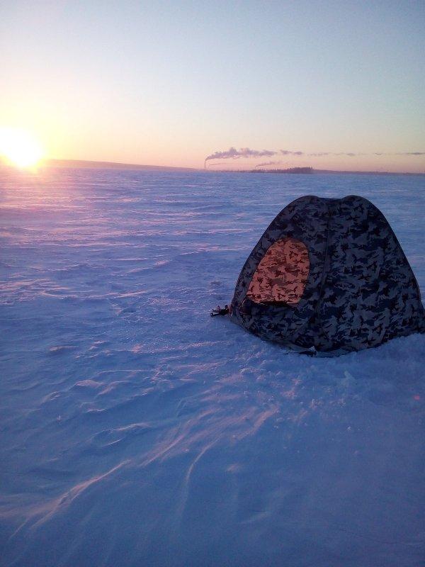 Морозное утро вблизи острова Тань-Вань.