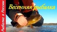 Рыбалка весной. Подводная съемка.  Ловля окуня на блесну .