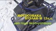 Мотособака Бурлак М 13л.с. Отзыв после двух лет эксплуатации.