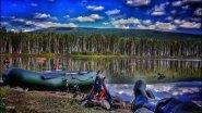 Шашлыки на рыбалке. Рай на земле