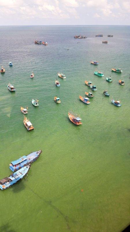Вьетнамская рыболовная флотилия.